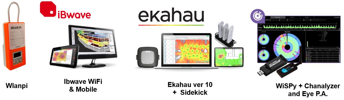 Wlanpi, Ekahau, iBwave, Eye P.A