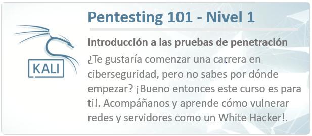 Pentesting 101 - curso de hacking etico